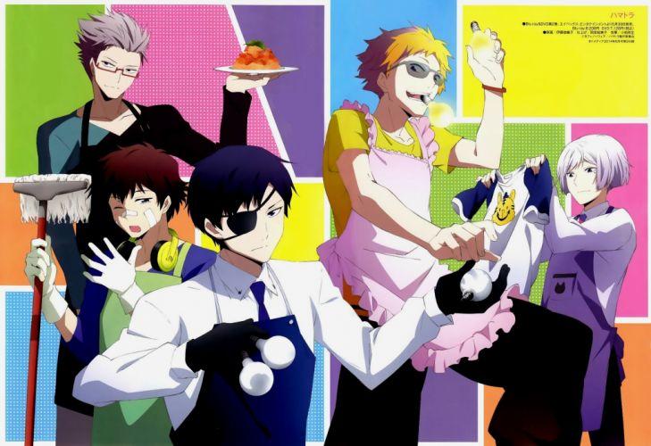 cute hamatora character anime series group guys wallpaper