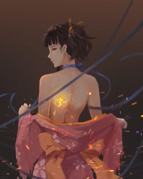 kimono koutetsujou no kabaneri anime series wallpaper