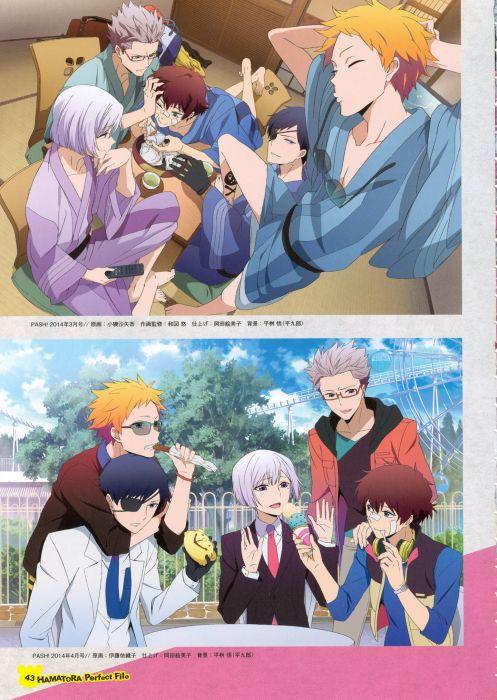 group Hamatora Series Hamatora Perfect File Artbook Art (Hamatora) Character wallpaper