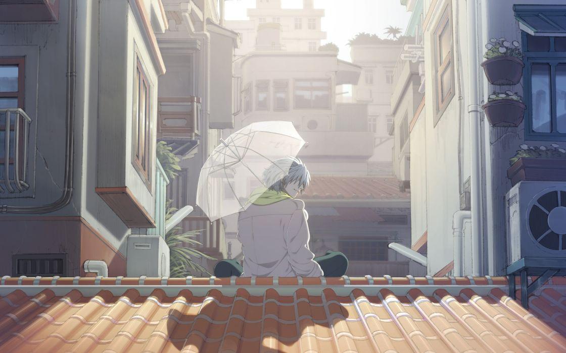 DRAMAtical Murder anime white hair boy wallpaper
