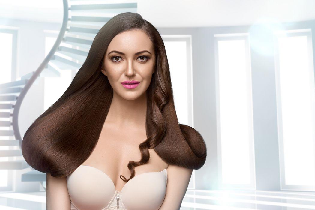 model girl beautiful brunette pretty cute beauty sexy hot pose face eyes hair lips smile figure wallpaper