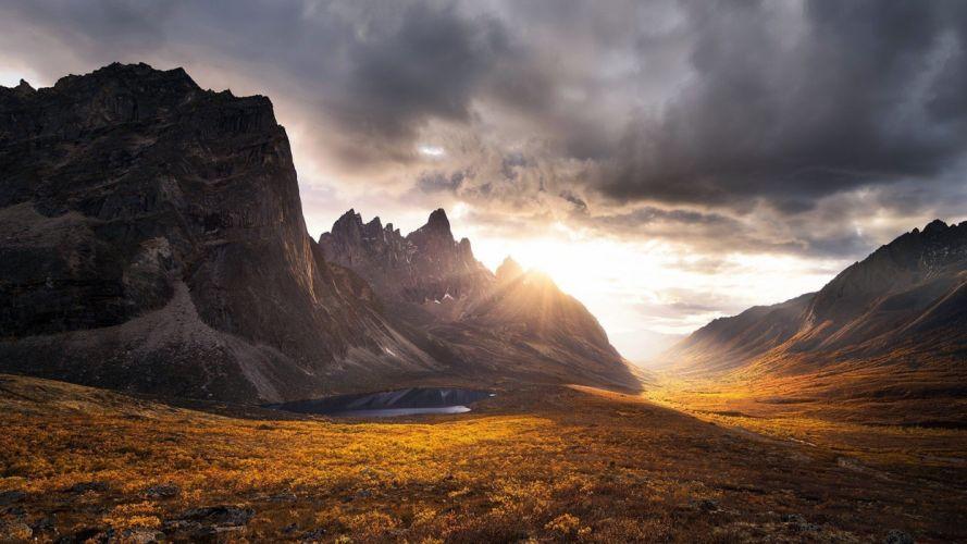Sunrise Mountain Landscape wallpaper