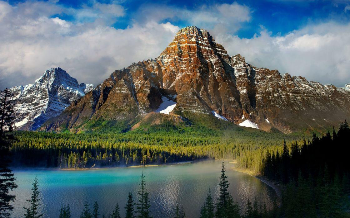 Lake Mountain Scenery wallpaper