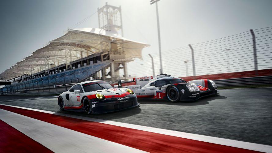 Porsche 911 RSR 2017 Race Car wallpaper