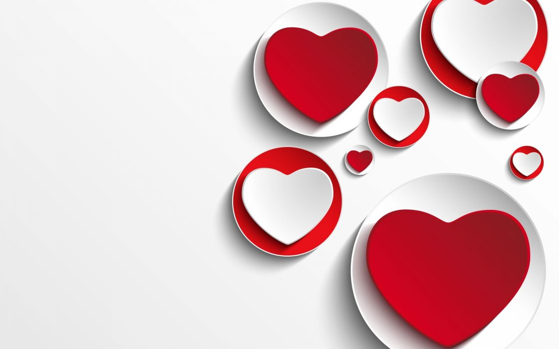 Paper Hearts Love Background wallpaper
