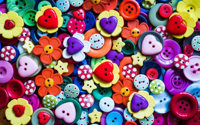Cool Buttons Colorful Background wallpaper