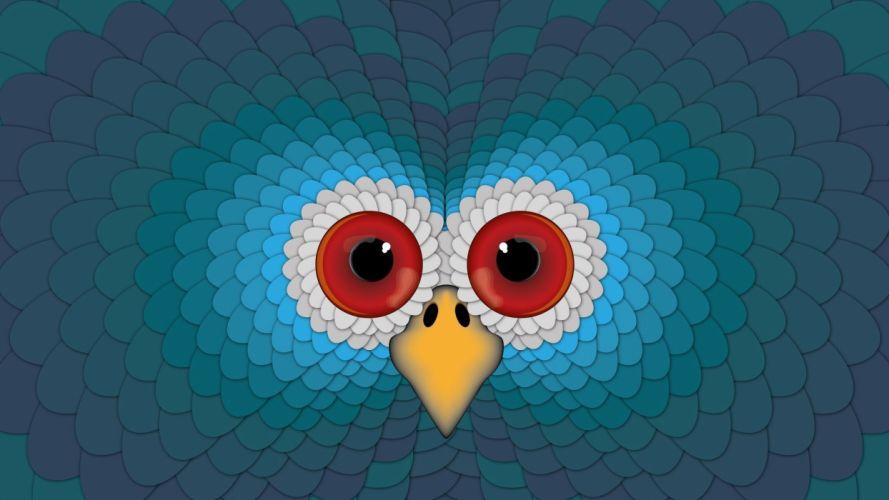 Bird Eyes Abstract Background wallpaper