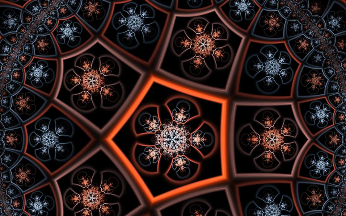 Abstract Flowers Fractal wallpaper
