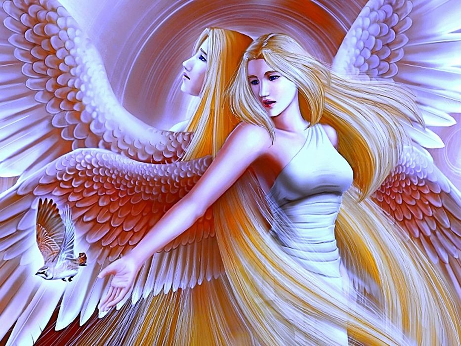 angeles fantasia rubia alas mariposa wallpaper