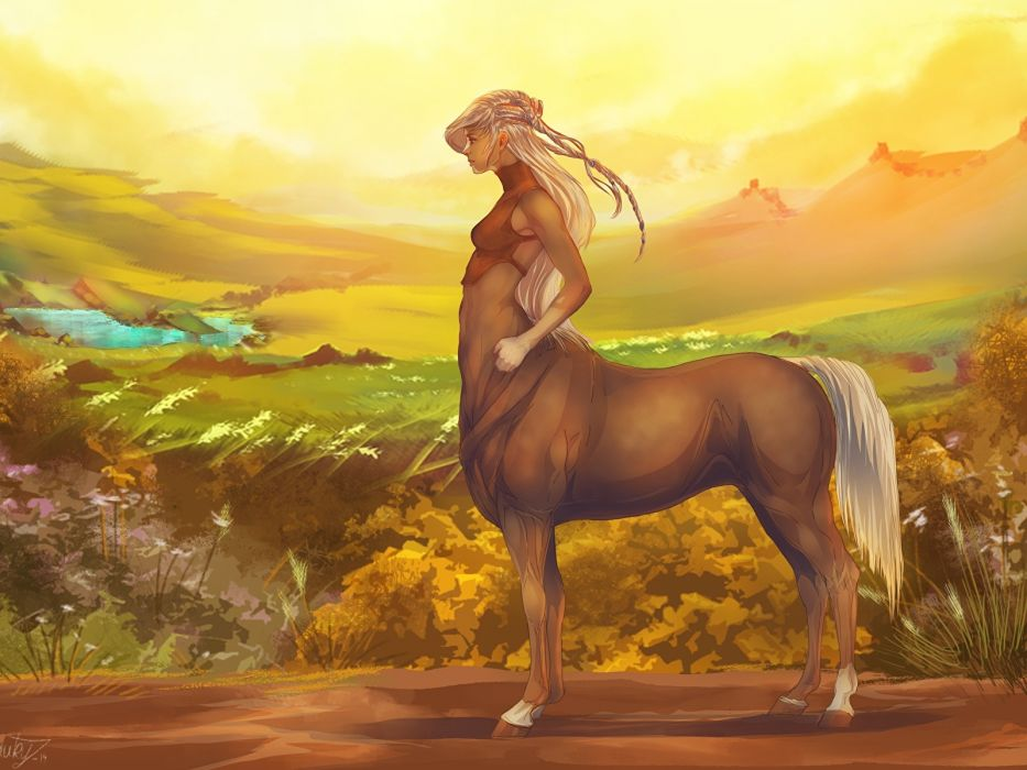 Centauro fantasia paisaje wallpaper
