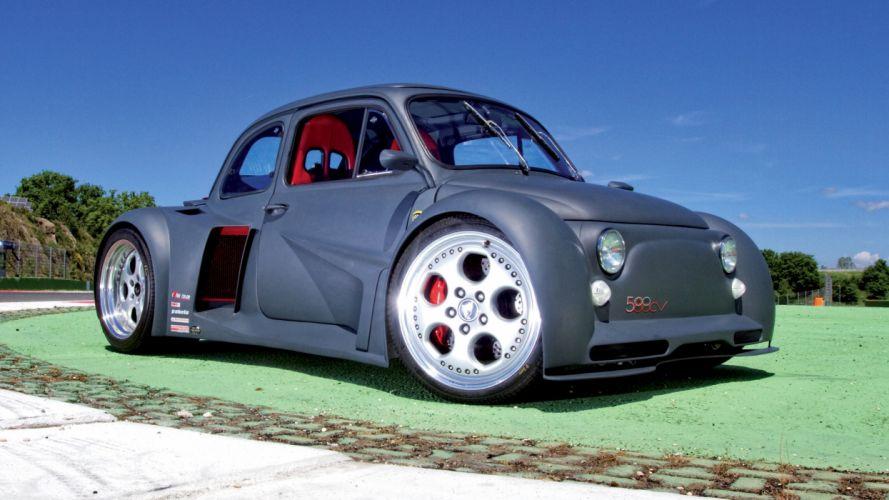Fiat 500 v12 wallpaper