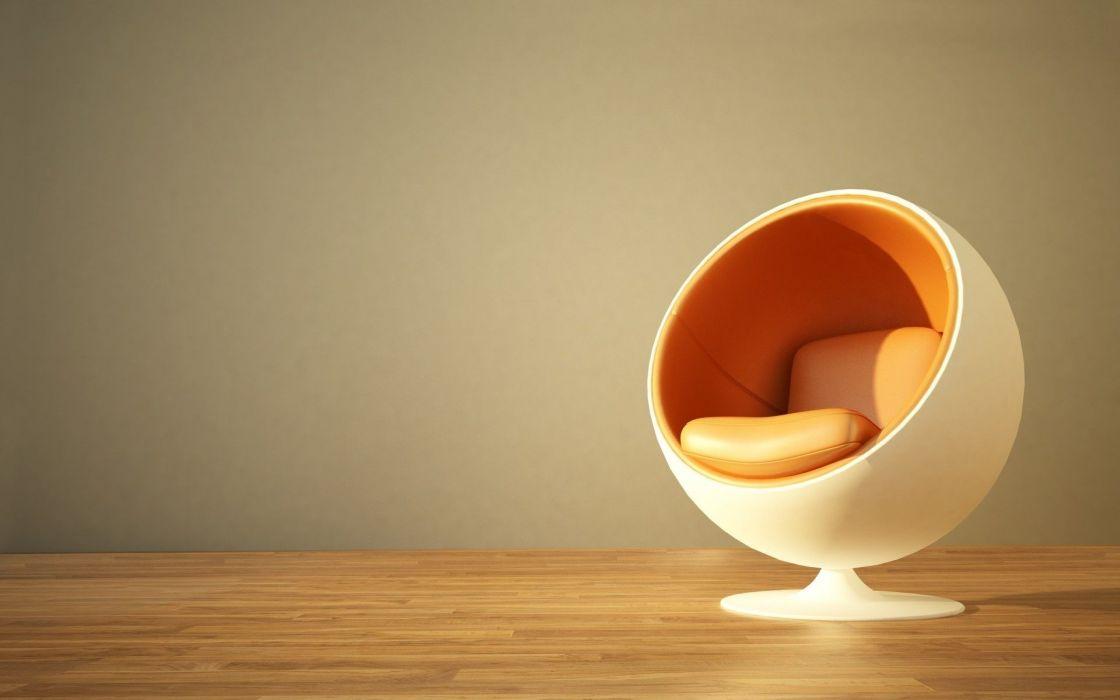 Round Chair Unique Furniture wallpaper