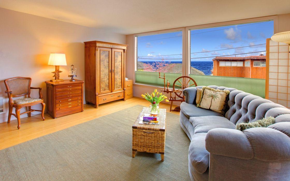 Beautiful Living Room Interior Desing wallpaper