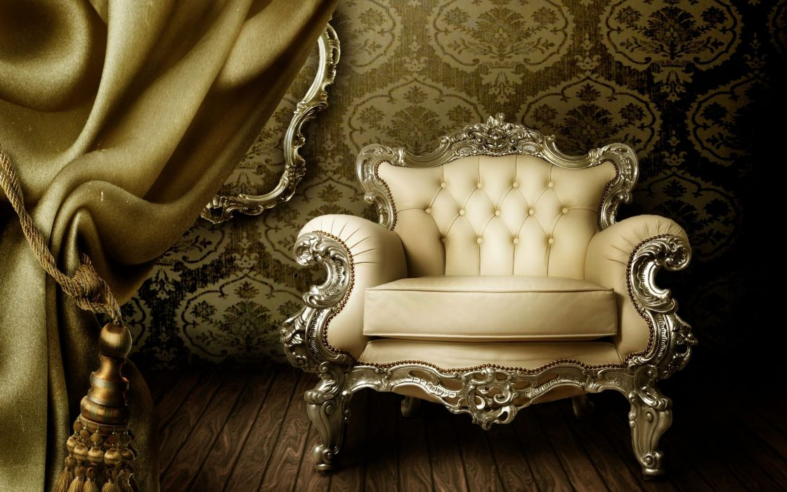 Vintage Sofa Interior Design wallpaper