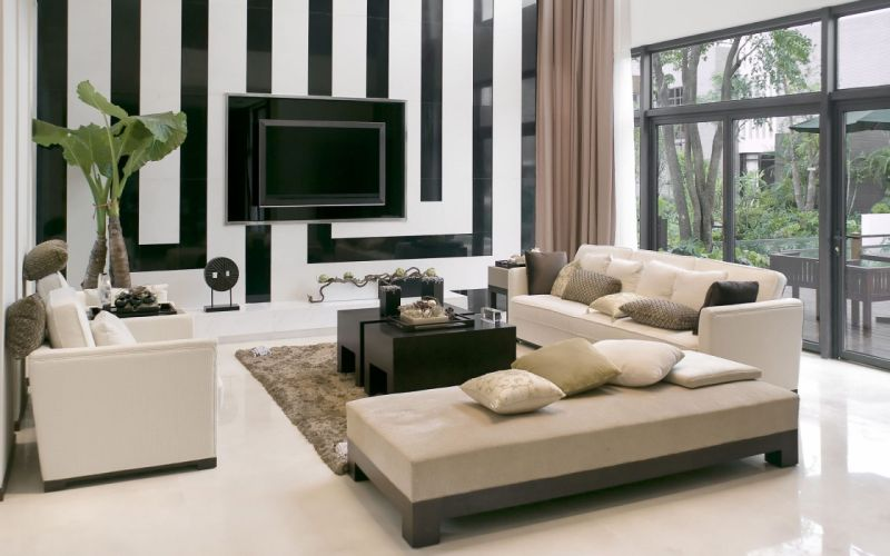 Modern Sofa Elegant Living Room wallpaper