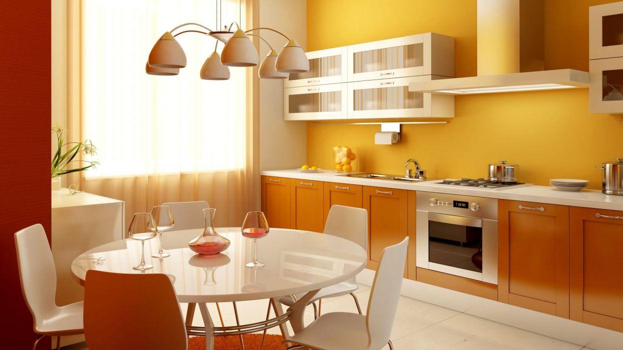 Small Kitchen Interior Design Wallpaper 1920x1080 1084280 Wallpaperup