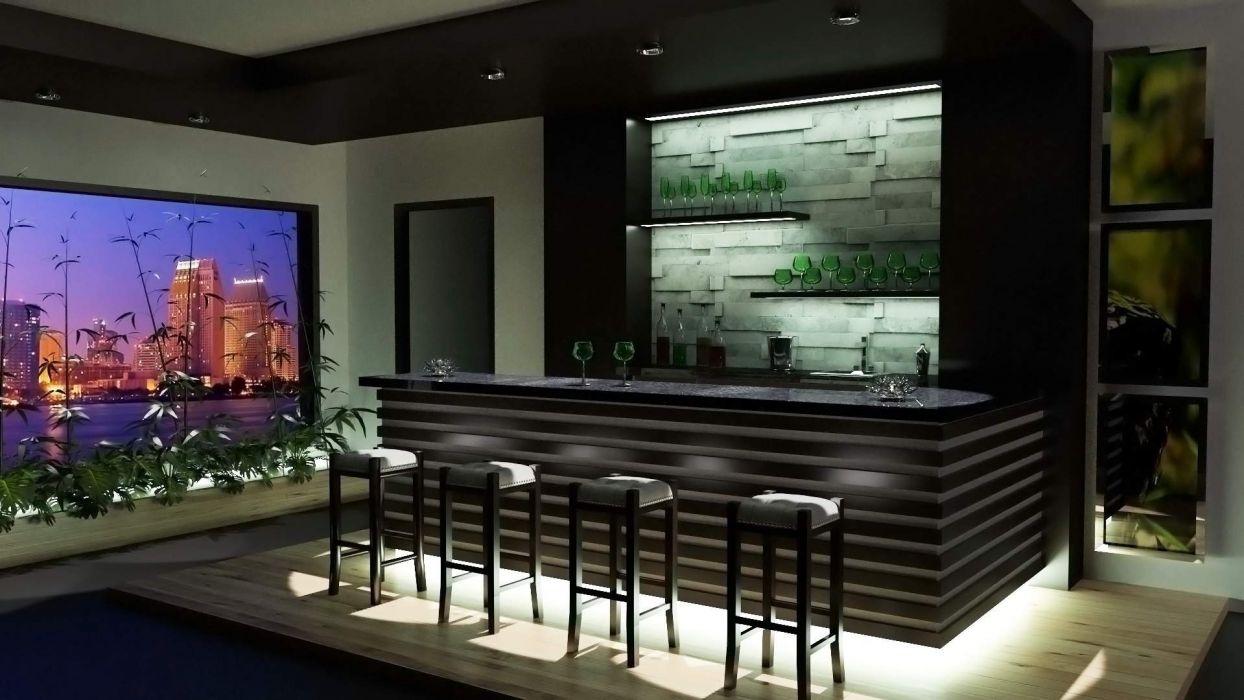 Modern Bar Room Design wallpaper