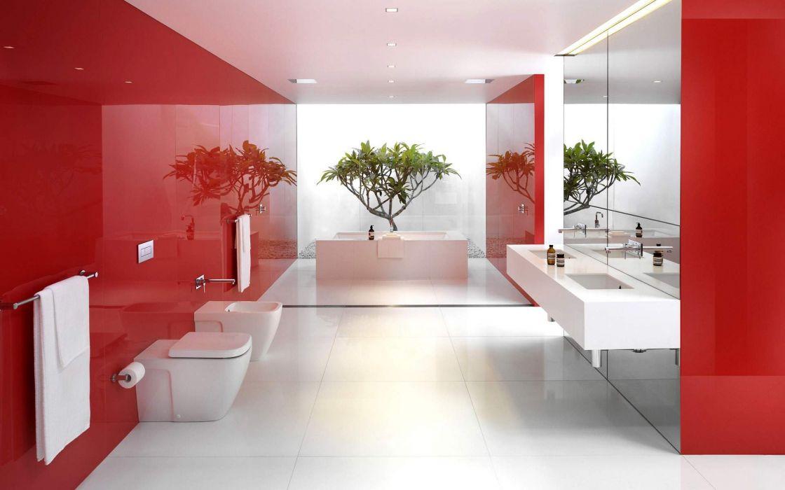 Modern Bathroom Interior wallpaper