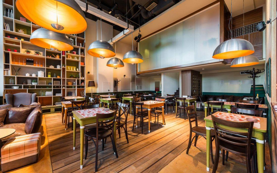Coffee Restaurant Interior Design wallpaper