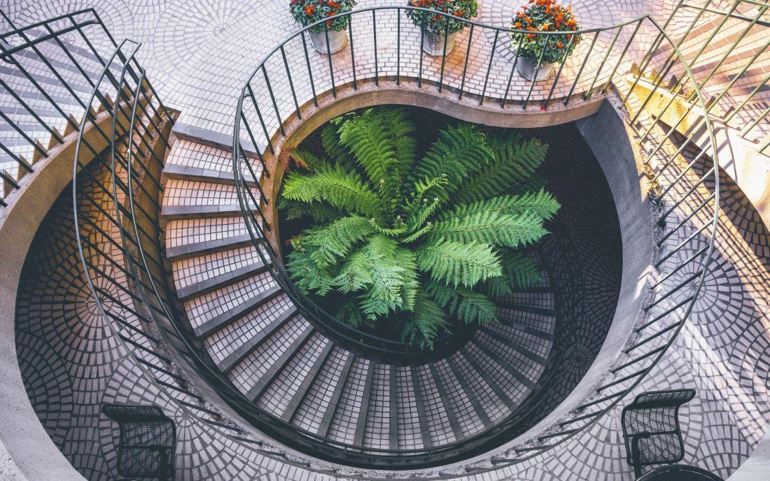 Circular Staircase Design wallpaper