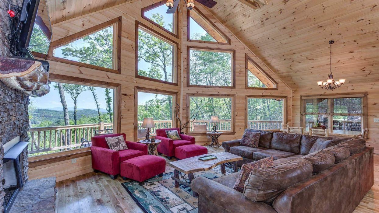 Mountain Cabin Interior Design wallpaper