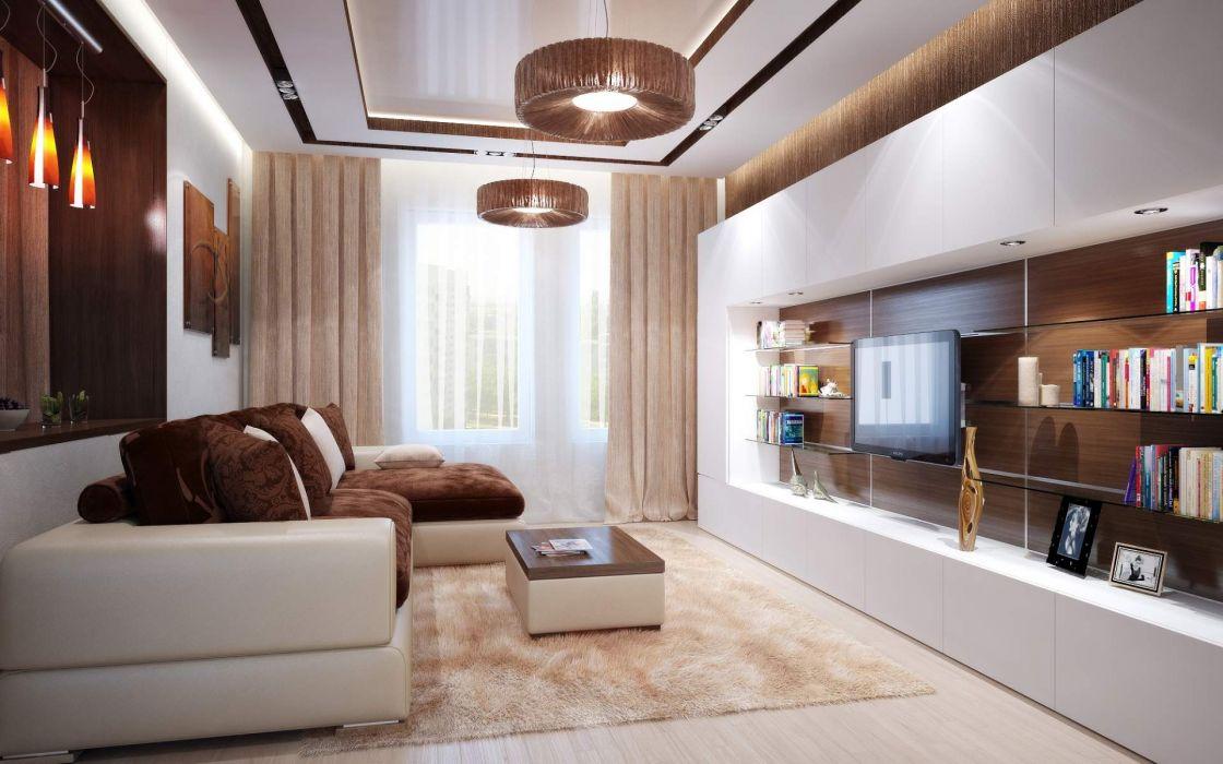 Luxury Living Room Design wallpaper