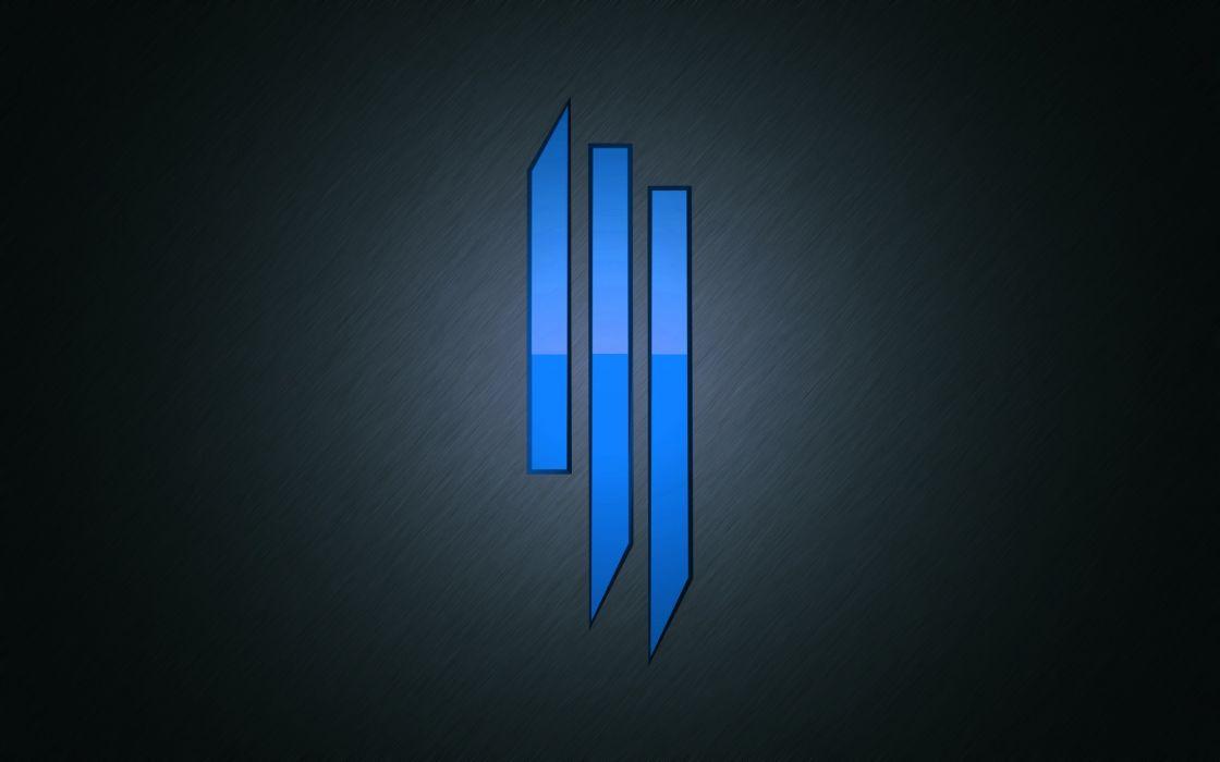 Skrillex Logo Blue 4 Wallpaper