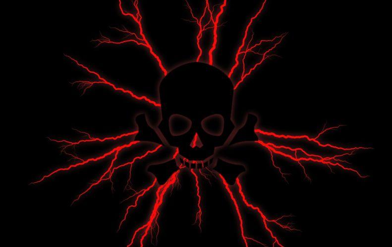 Red Lightening Skull wallpaper