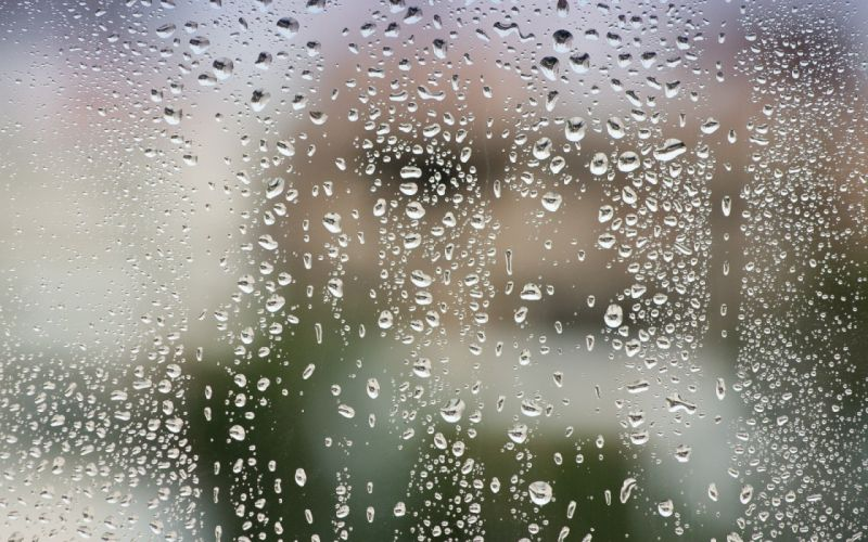 after rain glass water drops wallpaper