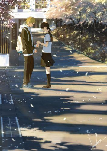 Anime original couple girl boy summer wallpaper