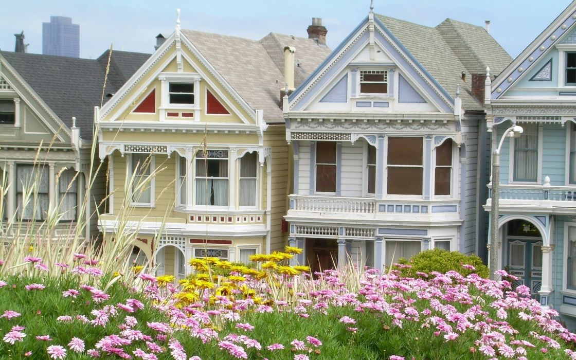 Cityscapes houses nature wallpaper