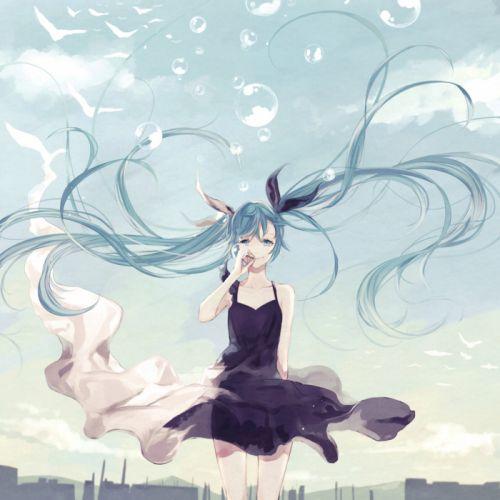 Kafuu original anime girl beauty dress summer buble wallpaper