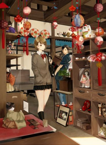 Kafuu original anime girl beauty wallpaper