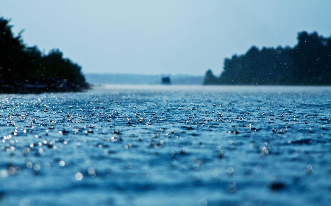 drops rain surface water precipitation wallpaper