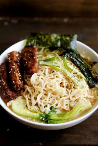 #food #pasta #noodles #ramen #tempeh #seaweed #vegetarian wallpaper