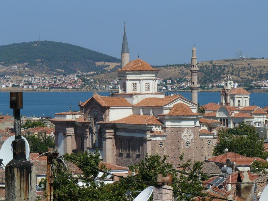 Turkey holidays view ayvalik sarimsakli sea wallpaper
