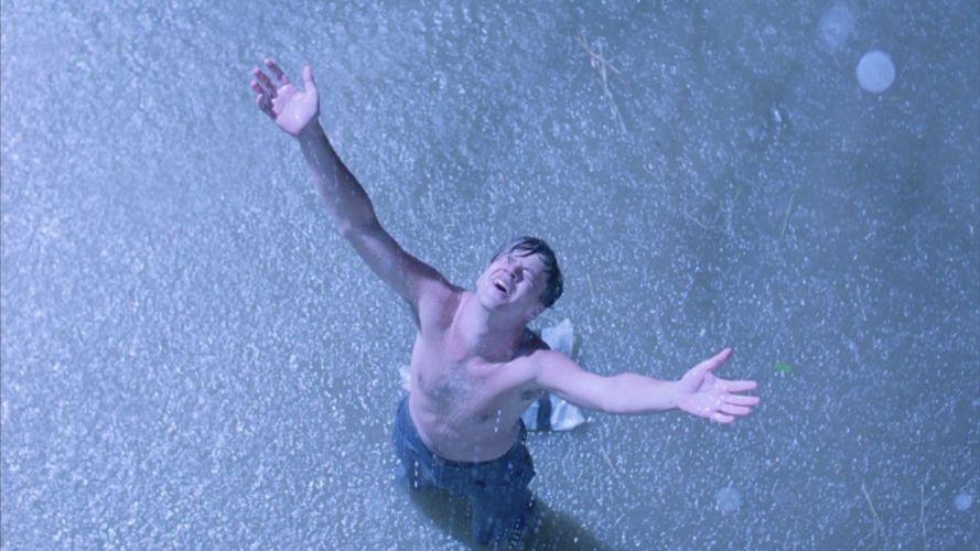 shawshank redemption tim robbins andy dufresne rain freedom wallpaper