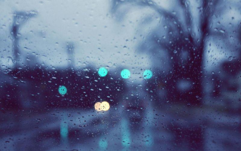 rain glare glass drops wallpaper