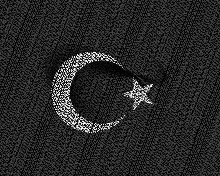 Typography turkey mustafa kemal ataturk moon star wallpaper