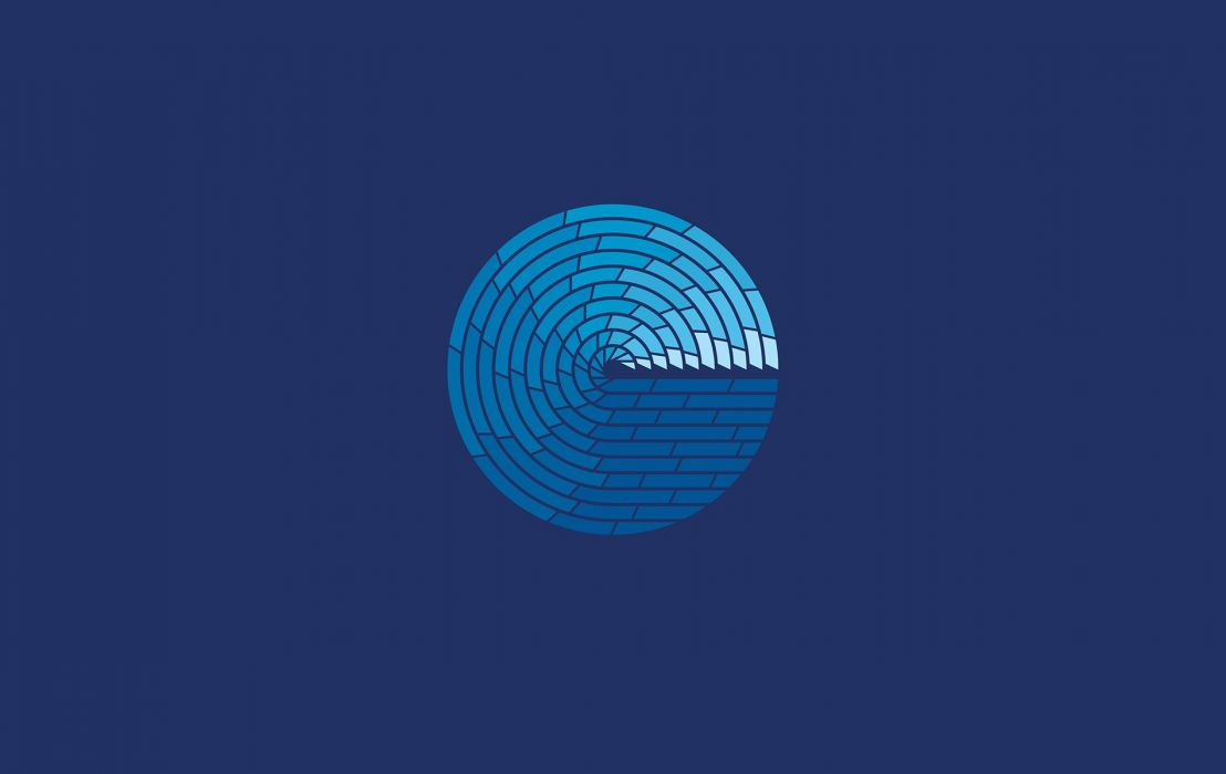 Blue Swirls wallpaper
