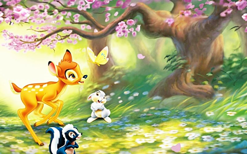 walt disney bambi cartoon dibujos animados wallpaper