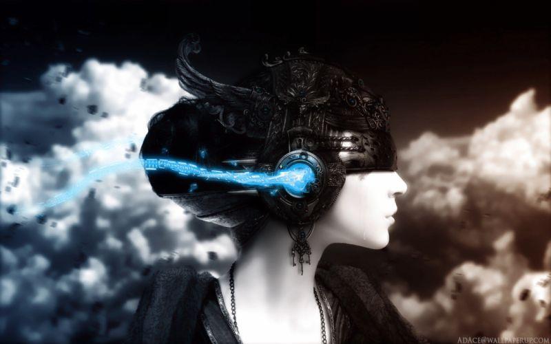New Version - Girl In Music World wallpaper