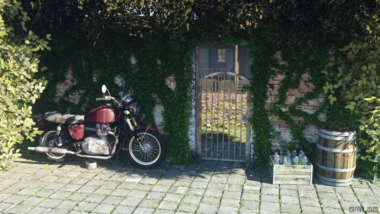 My old rusty motorbike wallpaper
