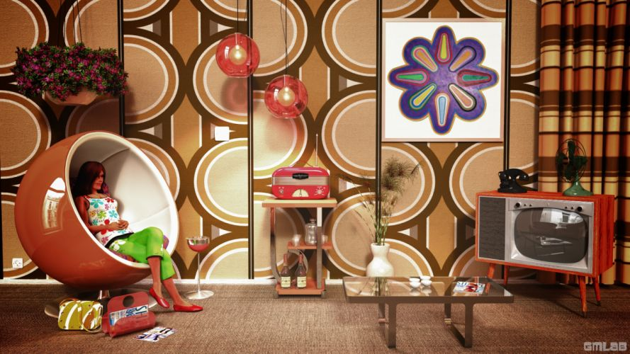 Seventies Room wallpaper