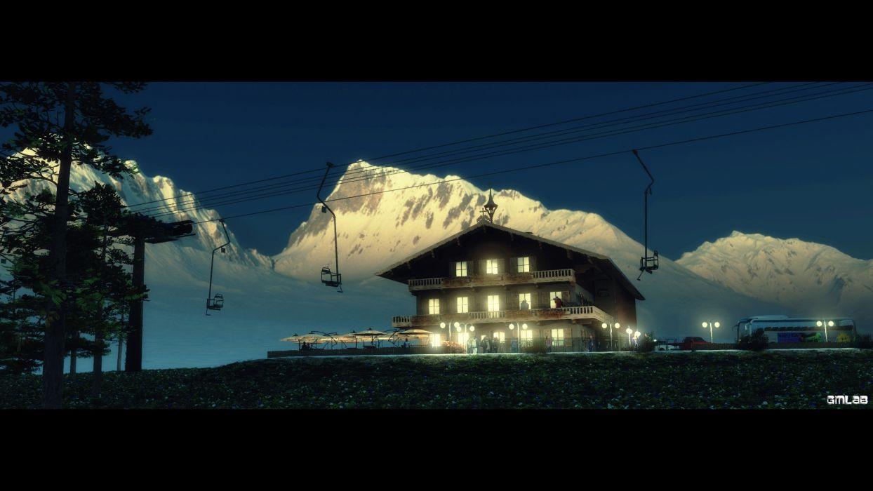 Tyrol Hotel wallpaper