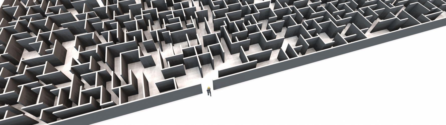 Labyrint (3840x1080) wallpaper