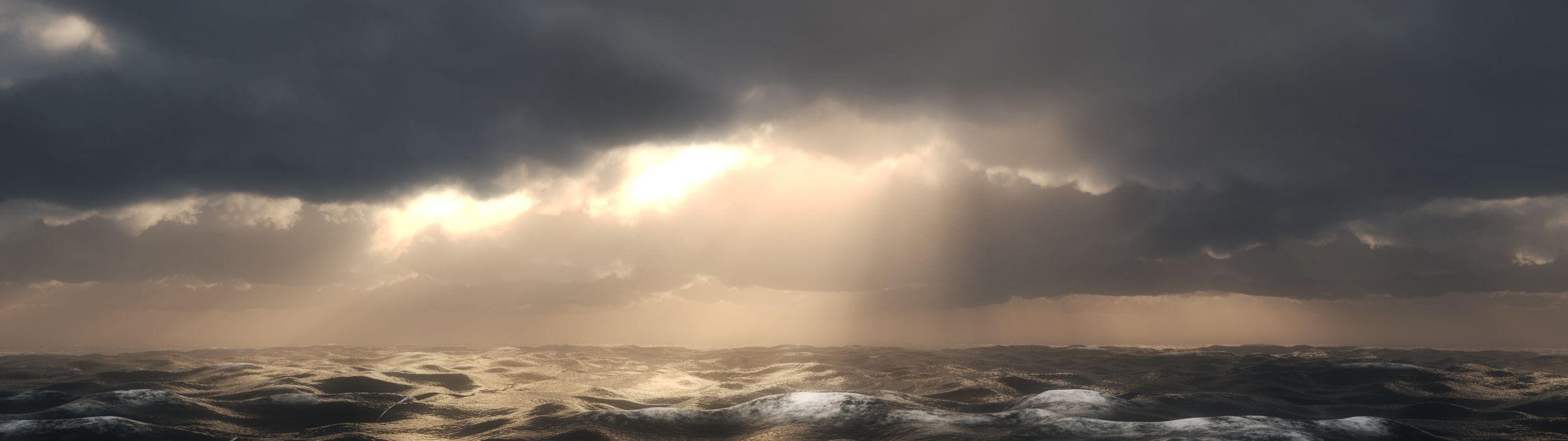 Sea Waves (3840x1080) wallpaper