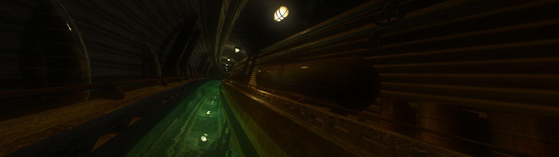 Underground Sewer (3840x1080) wallpaper