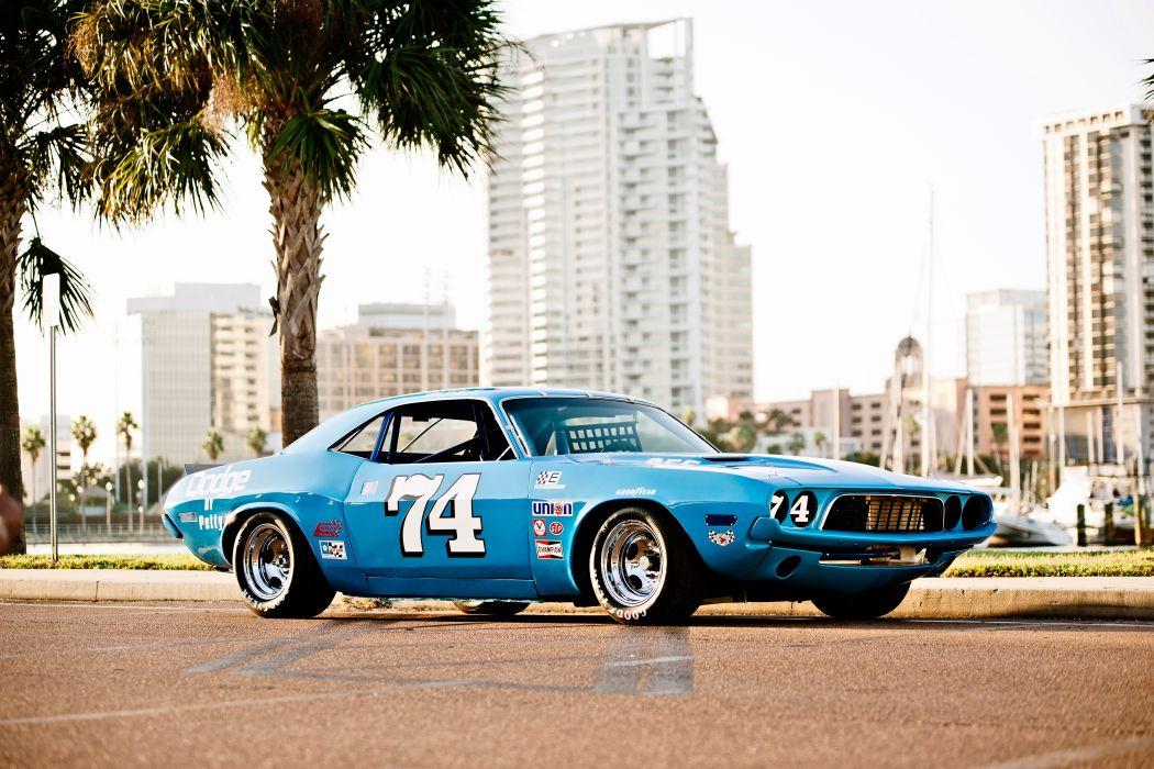 1973 Dodge Challenger NASCAR Race Car Old Classic USA -04 wallpaper