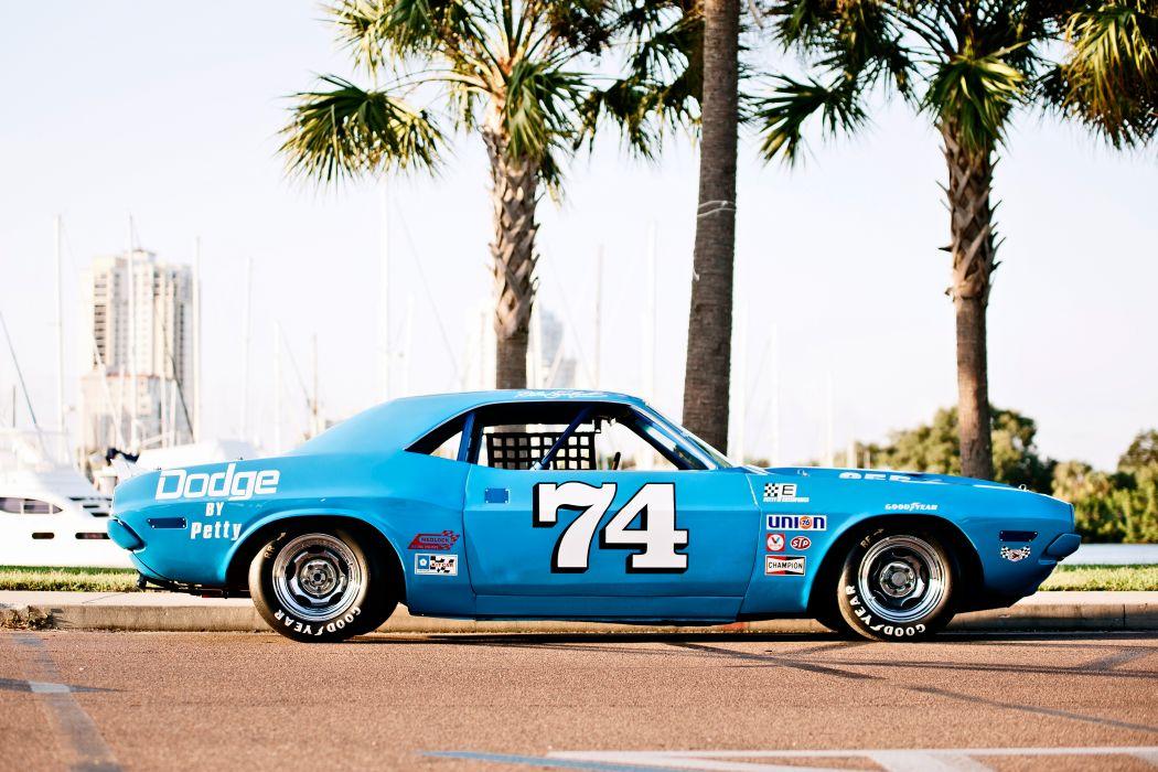 1973 Dodge Challenger NASCAR Race Car Old Classic USA -03 wallpaper